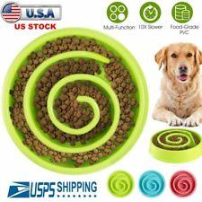 Dog Slow Feeder Bowl Non-Slip Puzzle Bowl Anti-Gulping Pet Food Feeding Dishes