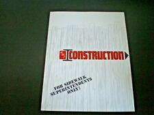 AMT Original 1972 Construction Catalog with LinkBelt Speeder Power shovel L@@K!