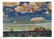 1964 Russian postcard Repro of A.Rylov's painting IN THE BLUE EXPANSE