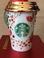 NEW Starbucks 2013 Swarovski Xmas Christmas ornament NEW!