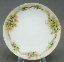 Jaeger Hand Painted Clover Leaves 6 Inch Dessert Plate Circa 1898 - 1923