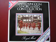 UK British 1983 UNC 8 Coin set 1/2 Penny - £1 Pound New Coin Royal Mint folder