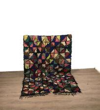 Shaggy Moroccan Azilal Rug Colorful Berber Teppiche Haandmade Carpet 7'X4' Ft