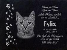 GRABSTEIN Tiergrabstein Gedenkstein Katzen Katze-018 ► Fotogravur ◄ 30 x 20 cm