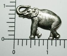 44324 2 Pc Matte Silver Oxidized Elephant Charm Jewelry Finding