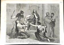 Ancien Testament Jugement du roi Salomon pour Enfant Bible Israël GRAVURE 1864