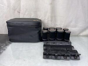 T3 Volumizing Hot Rollers Luxe Premium Hair Curler Roller Set Black 73709