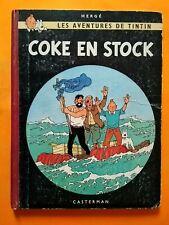 Tintin - Coke en Stock - EO dos rouge B24 1958 TBE Hergé - Rare