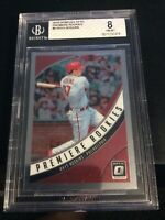 2018 Donruss Optic Premiere Rookies #8 Rhys Hoskins BGS 8 Graded Philadelphia
