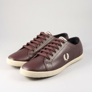 Fred Perry Kingston Scotchgrain Leather B1303 - Ox Blood 158
