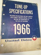 TUNE UP SPECIFICATIONS UNITED DELCO 1966 MANUAL