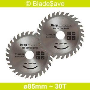Ryobi Circular Saw Blade Fine Cut TCT 85mm x 15mm x 30T by KROP (2 Pack)