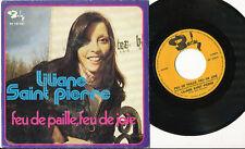LILIANE SAINT PIERRE 45 TOURS BELGIQUE FEU DE PAILLE FEU DE JOIE