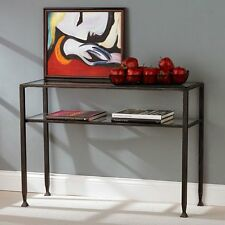 Metal Sofa Table, Black, 42 inches
