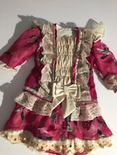 ANTIQUE silk,dress for FRENCH doll 9-11 Jumeau Steiner Bru antique lace