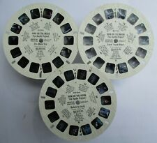 3 VIEW-MASTER 3D BILDSCHEIBEN - MAN ON THE MOON   THE APOLLO PROJECT