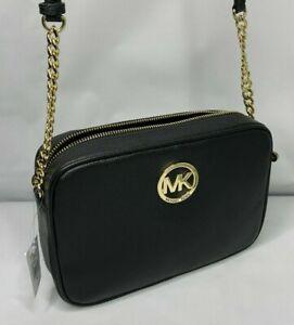 Michael Kors Womens Fulton Leather Shoulder Bag