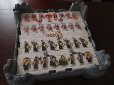 4 plaques de Construction 3D, avec 4 Tours, 32x32, Lego, Château, jeu d'echec