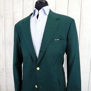 Vtg Brooks Brothers Made USA Gold Btn Augusta Masters Green Blazer Jacket 46R