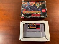 Snes Nintendo entertainment system Super ghouls n and ghosts ntsc USA version