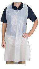 """Choice brand- Economy Disposable Poly Apron, 1.5 Mil White 28"""" x 46"""" Pack of 100"""