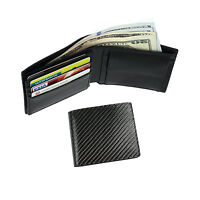 FancyStyle Men Carbon Fiber RFID Blocking Pocket Wallet Trifold with Coin Pouch