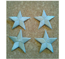 "7//8/"" ONE DOZEN - 12 ROYAL BLUE EMBROIDERED STARS IRON ON PATCHES 2cm"