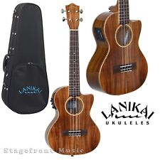 LANIKAI ACSCET ALL SOLID ACACIA TENOR UKULELE ACOUSTIC /ELECTRIC  w/ KULA PREAMP