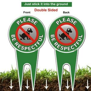 2x New - Please Be Respectful, No Poop Dog Signs, Afuven Brand