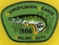 Pa Pennsylvania Fish Commission P.L.A.Y. 1986 Northern Pike YOUTH Fishing Patch