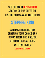 LOT STEPHEN KING HC DJ; GIFT QUALITY; LIKE NEW; PICK MIN OF 4 @ $2.75 EACH