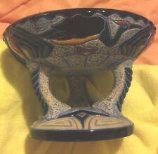 Amphora Jugendstil Pottery RARE 3 Arms w/Center Column COMPOTE Storks Jewels
