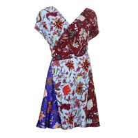 DVF DIANE VON FURSTENBERG Dress Multi-Coloured Floral Silk RRP £358 BG
