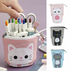 Cartoon Cat Telescopic Pencil Bag Stationery Box Folded Store Pencil Case Box