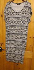 Aztec Black & White 3/4 Length Dress Size 20