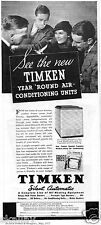 1937 Print Ad of Timken DeLuxe Model Air Condition Silent Automatic