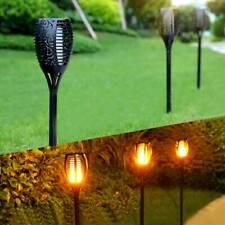 ❤ Solar LED Flickering Landscape Lamps Dancing Flame Torch Garden Lights