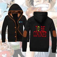 Anime One Piece Luffy Unisex Jacket Patch Sweatshirt Hoodie Coat#SE-A67