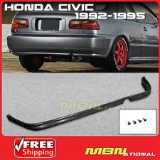 92-95 For Honda Civic 2/4D 4D 2D Rear Bumper Tail Lip Type-R JDM Style PU BLK
