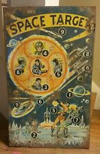"EXTREMELY RARE PRE WORLD WAR SPACE TARGET TIN GAME 14""X27"" DISPLAY PIECE 1OFKIND"