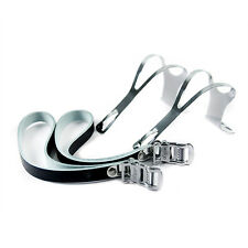 Wellgo Road Bike Bicycle Cycling Pedal TOE CLIPS MEDIUM + STRAPS