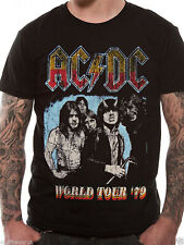 AC/DC T Shirt Highway To Hell Official 1979 World Tour Classic Rock Music Tee