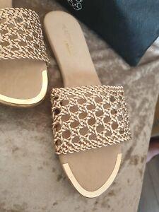 dune sandals Rose Gold New Uk 5