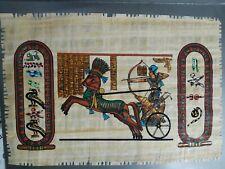 PAPIRO EGIZIANO ORIGINALE CERTIFICATO 31X22 CM egizio egitto cairo cavallo