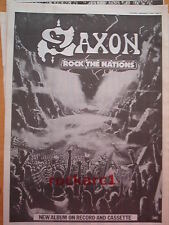 "SAXON Rock The Nations 1986 UK Poster size Press ADVERT 16x12"""