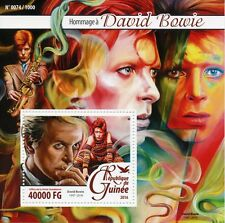 Guinea 2016 MNH David Bowie Tribute 1v S/S Music Stars Celebrities Stamps