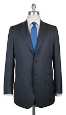 New $9900 Kiton Gray Super 180's Striped Suit - 38/48 - (UA896F5403R7)