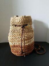 Women Straw Bag Summer Beach Rattan Shoulder Bags Wicker Weave Handbag.