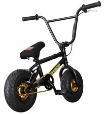 "FatBoy Assault Mini 10"" BMX Bicycle Freestyle Bike Black Gold Fat Tire NEW 2017"