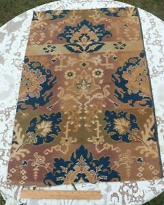 """Exotic French Antique Ethnic Frame Cotton Jacquard Fabric~L-38"""" X W-24"""""""